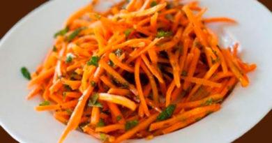 Морковь маринованная по французски