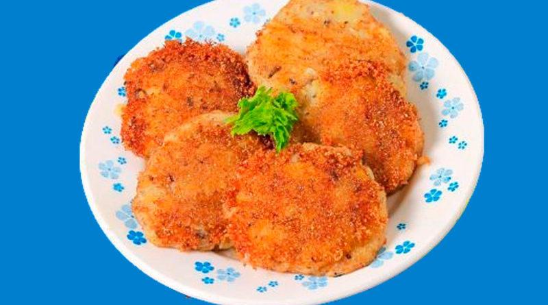 Котлеты картофельные с рыбными консервами