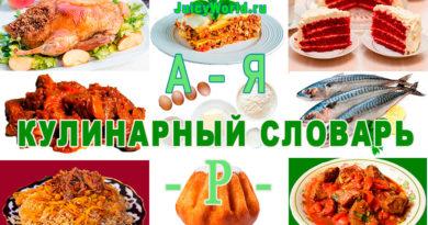 кулинарный словарь, Словарь по кулинарии