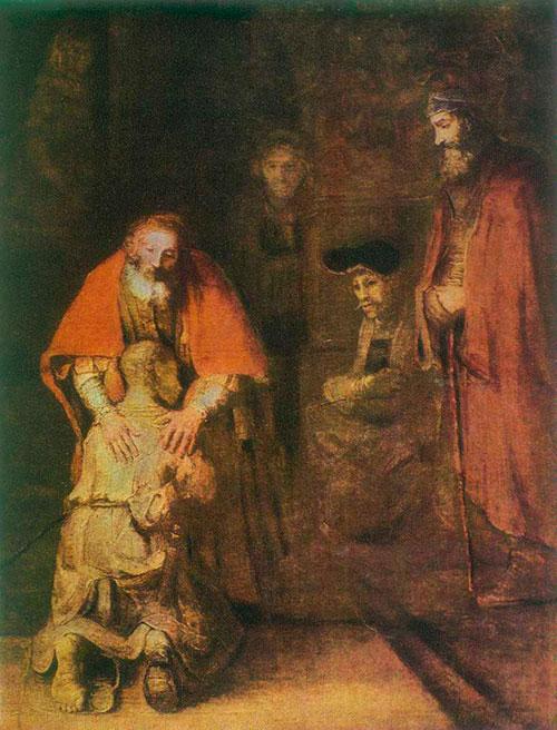 Возвращение блудного сына Рембрандт